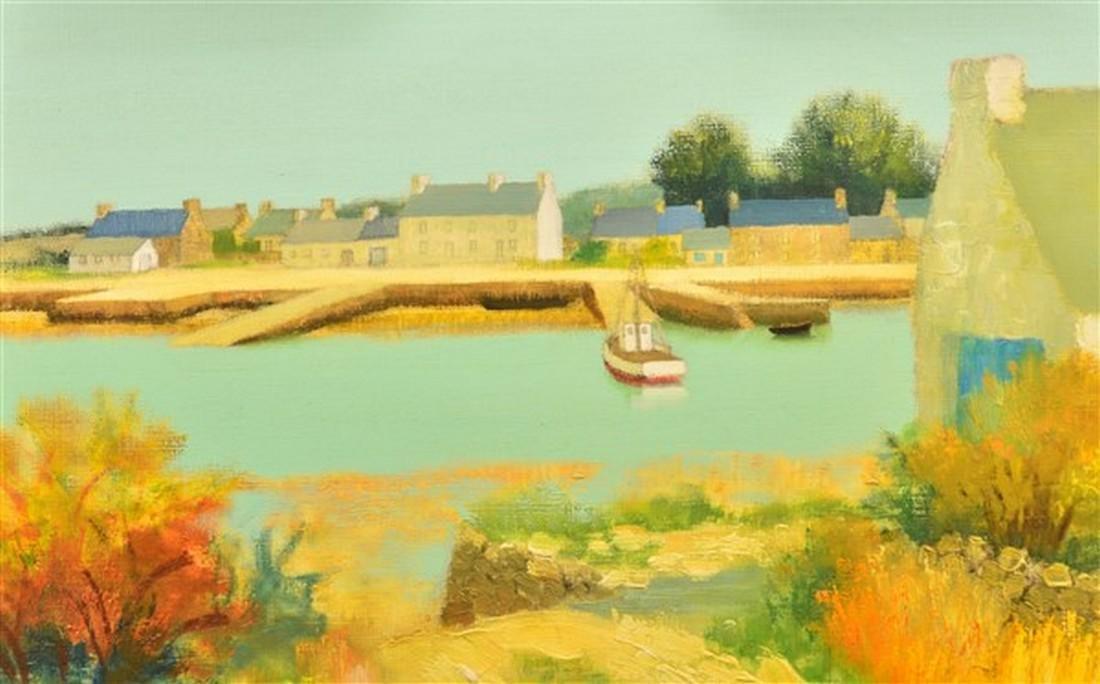 Jacques Eitel Oil on Canvas Landscape Painting. - 2