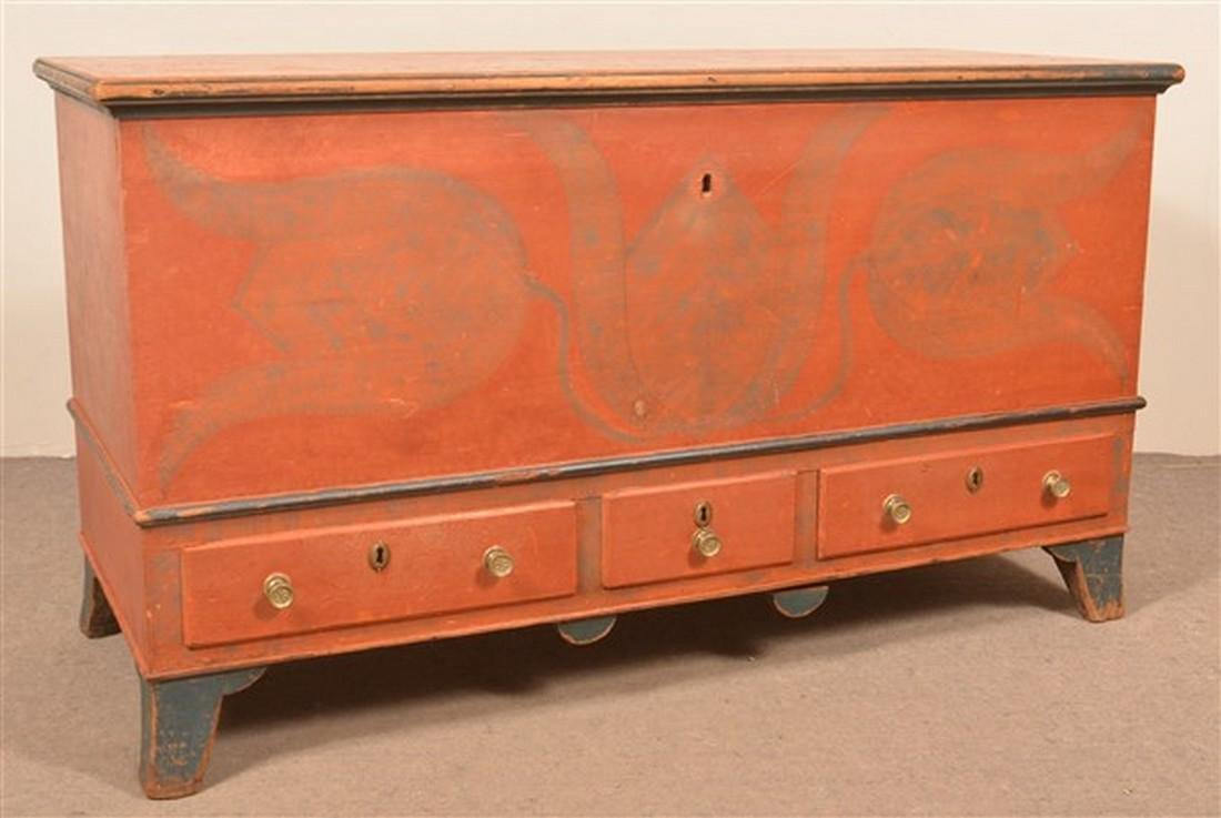 Center County, PA Paint Dec. Blanket Chest.