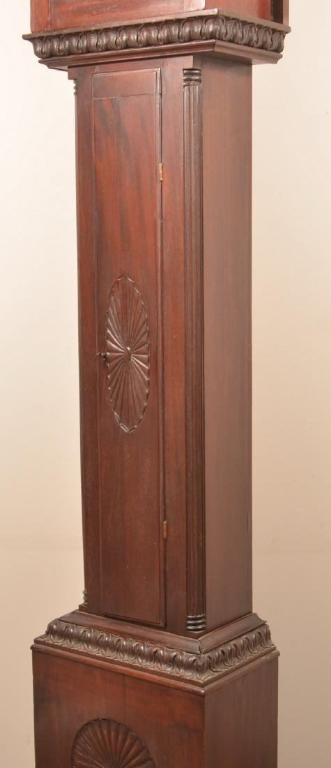 Chippendale Style Mahogany Tall Case Clock. - 7