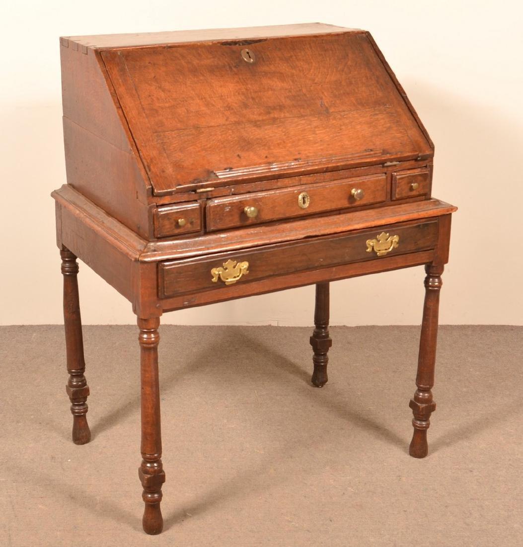 18th Century Chestnut Desk on Frame.
