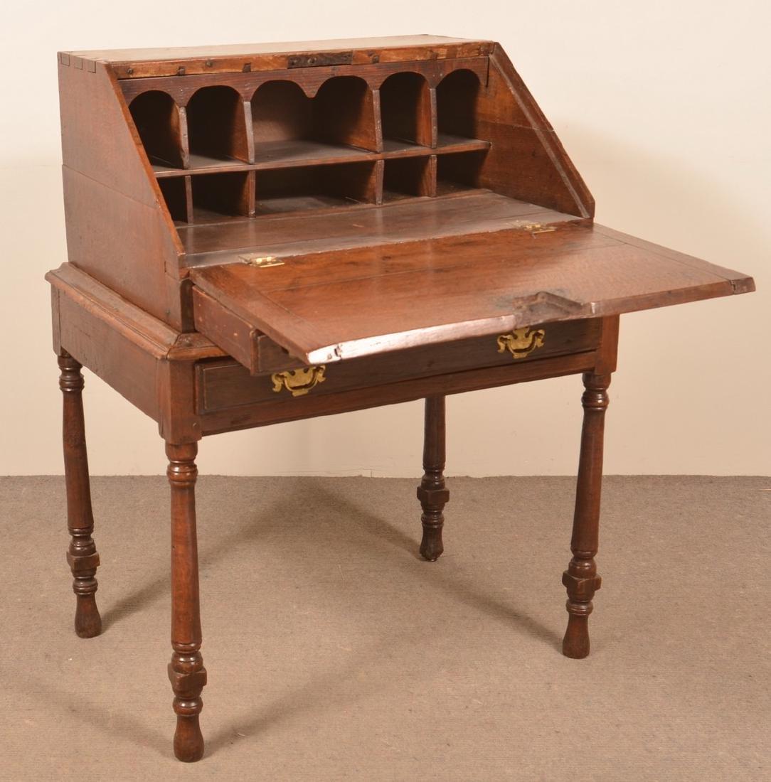 18th Century Chestnut Desk on Frame. - 2