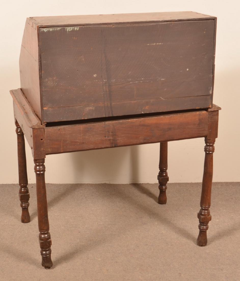 18th Century Chestnut Desk on Frame. - 4