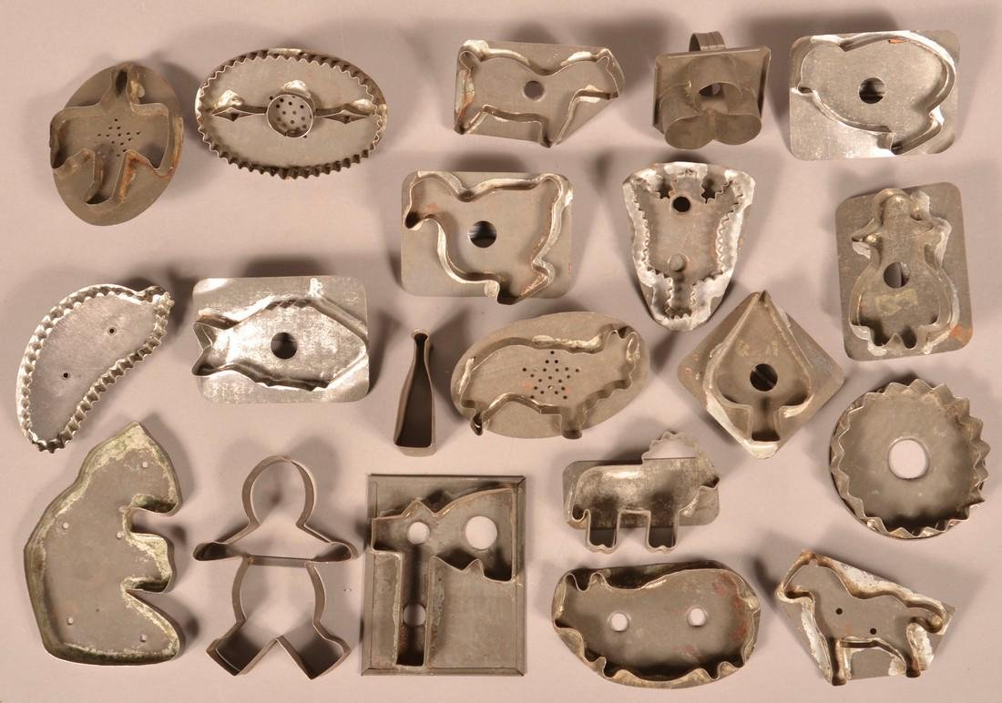 20 Antique Tin Cookie Cutters.