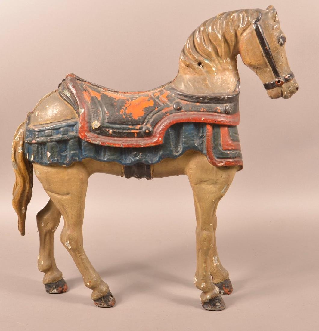 Vintage Cast Alloy Small carnival Horse.