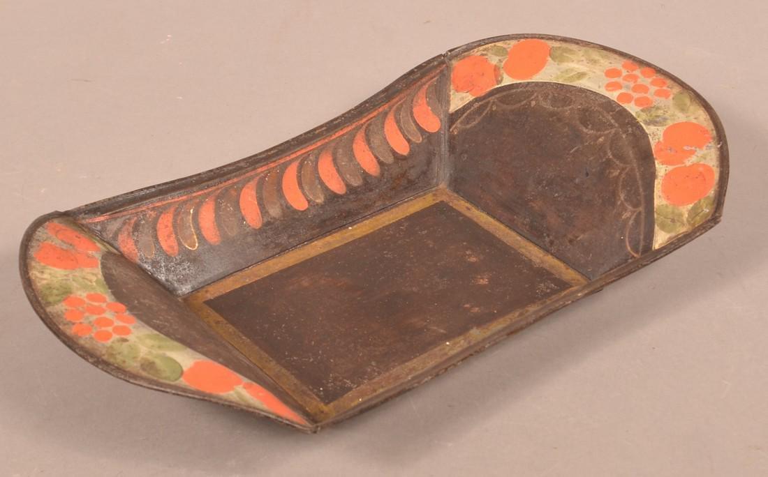 Pennsylvania 19th Century Toleware Apple Tray. - 2