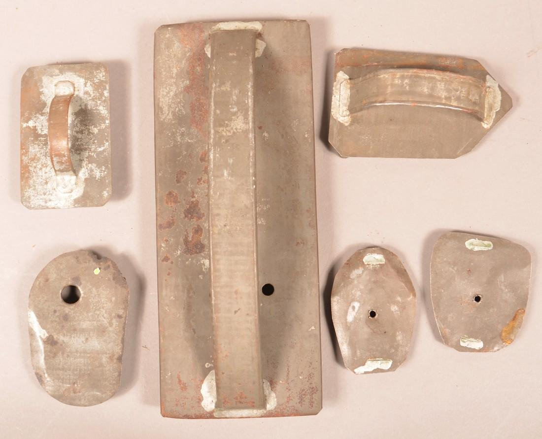 Six Antique Tin Figural Cookie Cutters. - 2