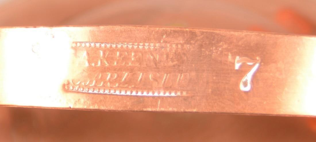 """Copper Tea Kettle Stamped """"A. Keeney, Carlisle"""". - 2"""
