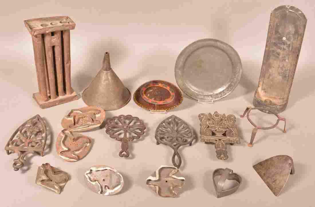 Lot of Various Antique Metal Utilitarian Wares.