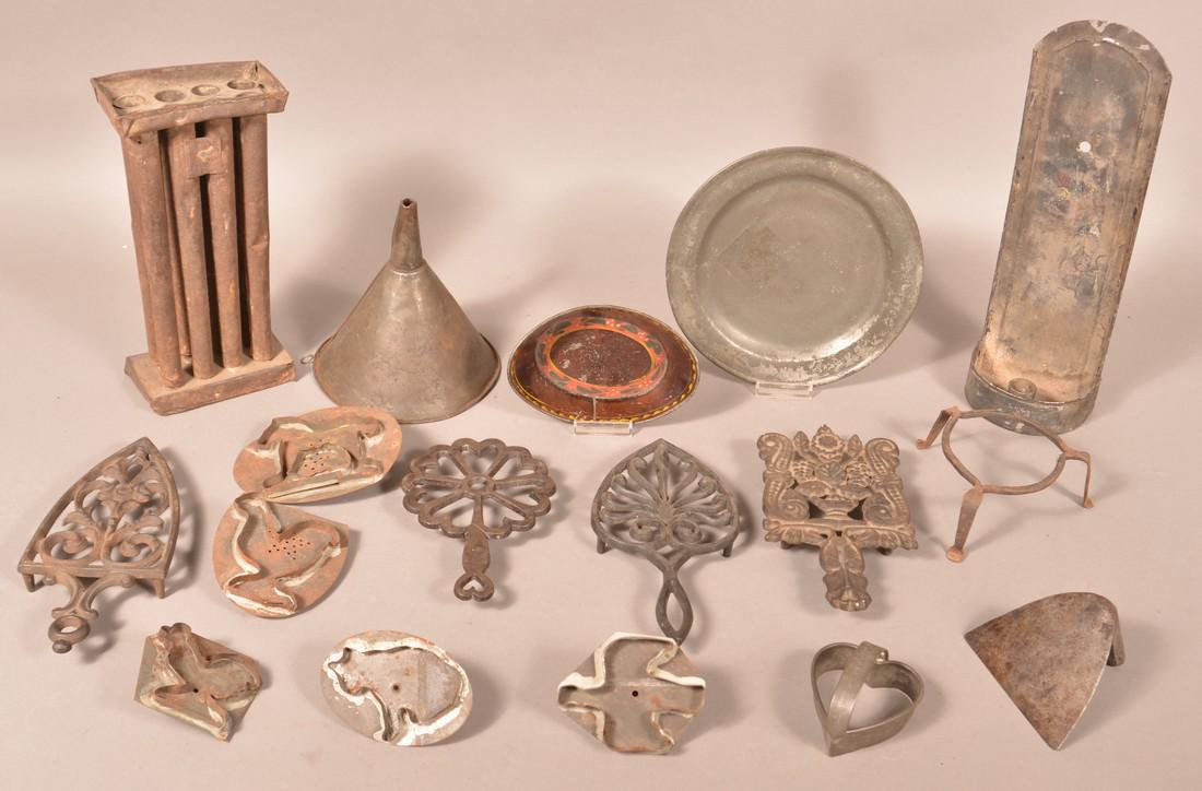 Lot of Various Antique Metal Utilitarian Wares.