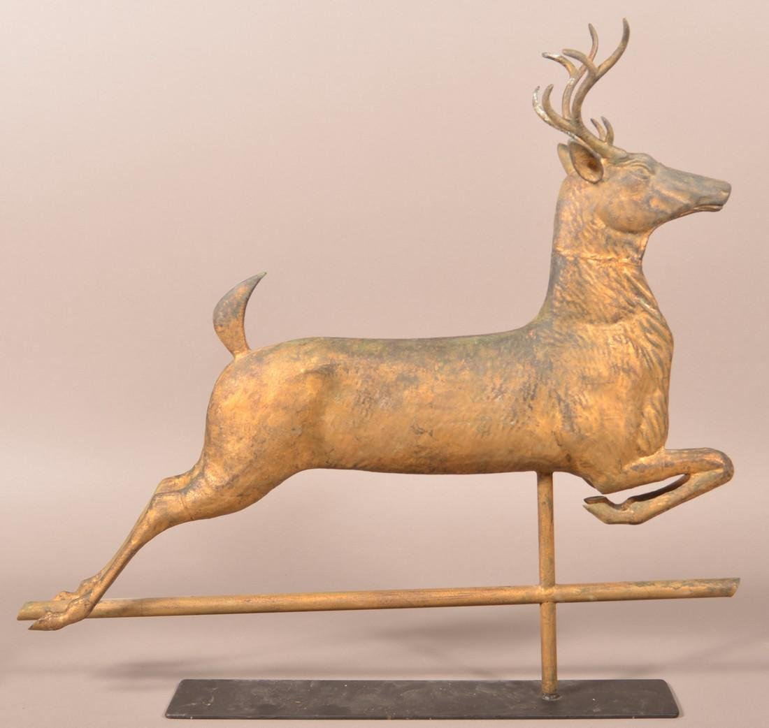 Leaping Stag Weathervane Attr. to J.W. Fiske.