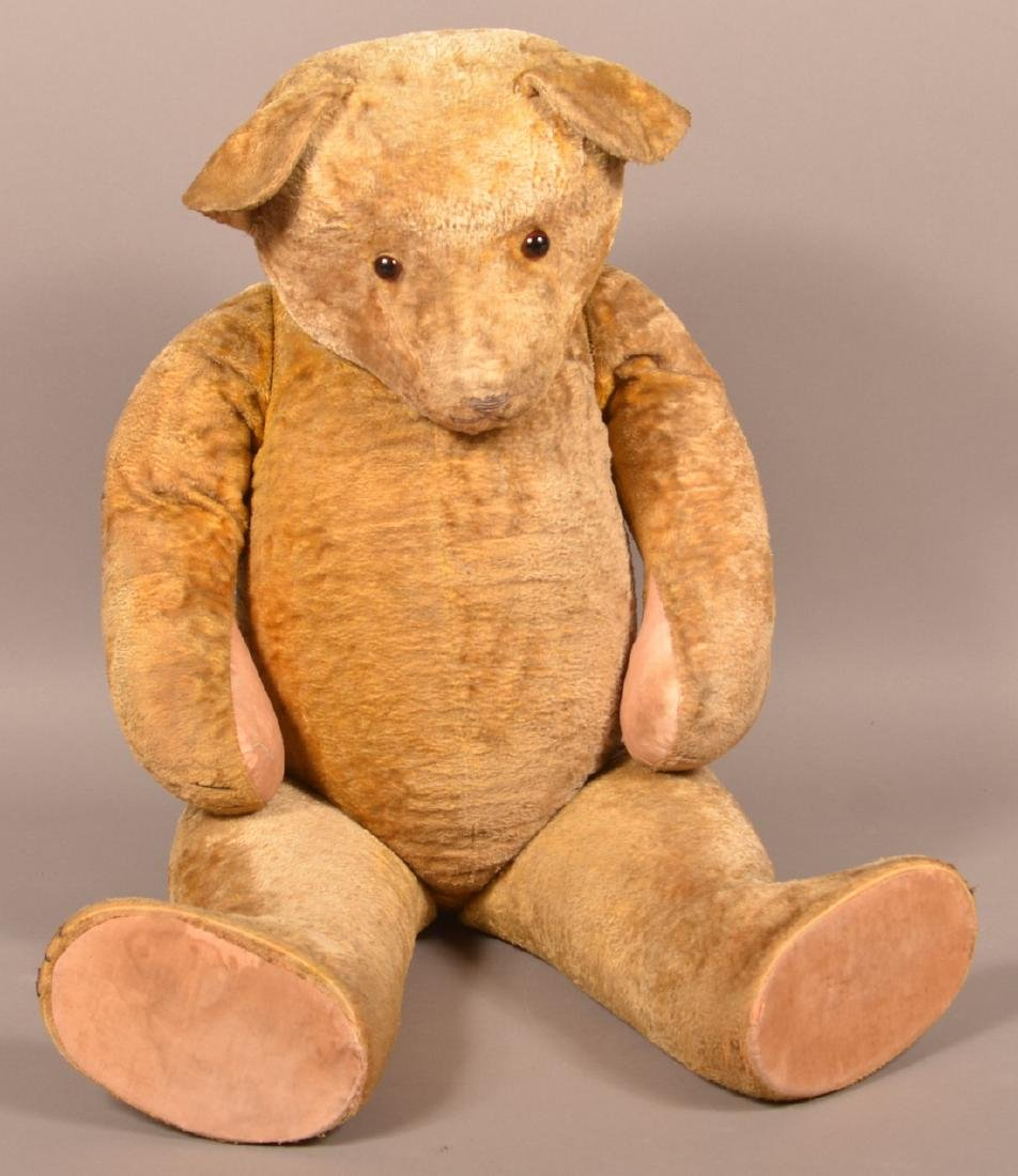 Antique Steiff Type Large Mohair Teddy Bear.