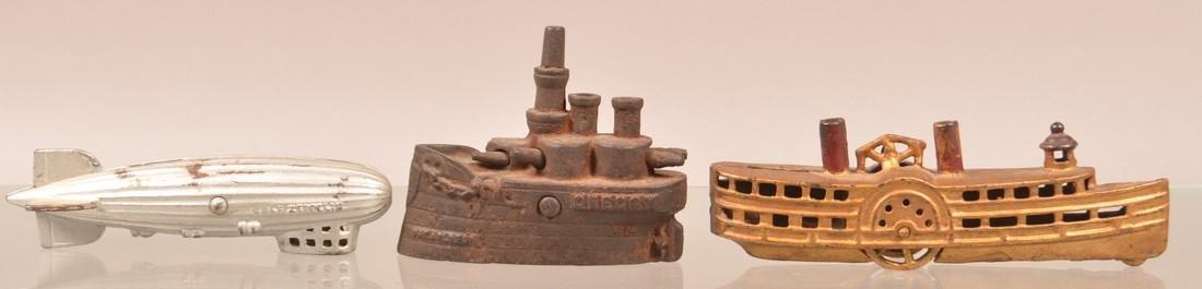 Three Antique/Vintage Cast Iron Still Banks.