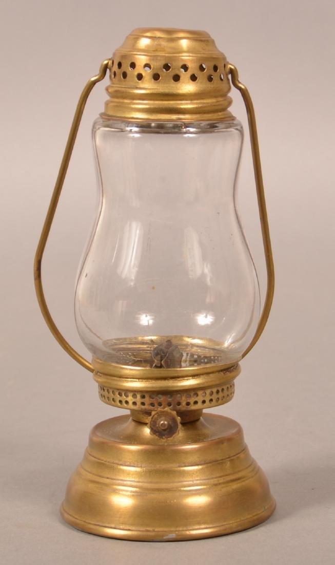 Antique Brass Skater's Lantern.