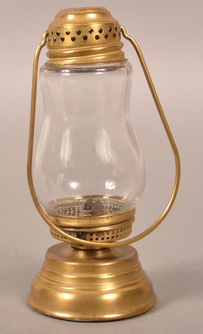 Antique Brass Skater's Lantern. - 2