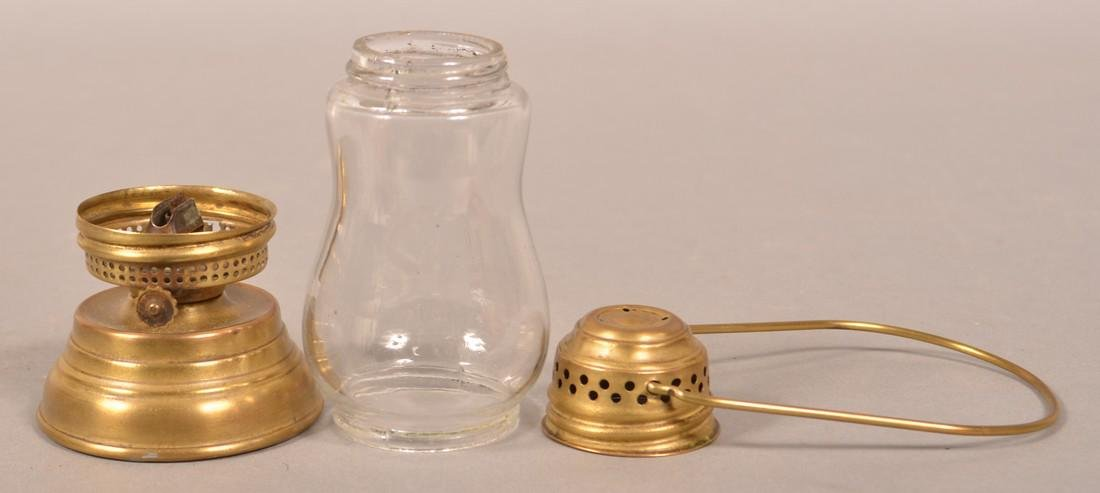 Antique Brass Skater's Lantern. - 3
