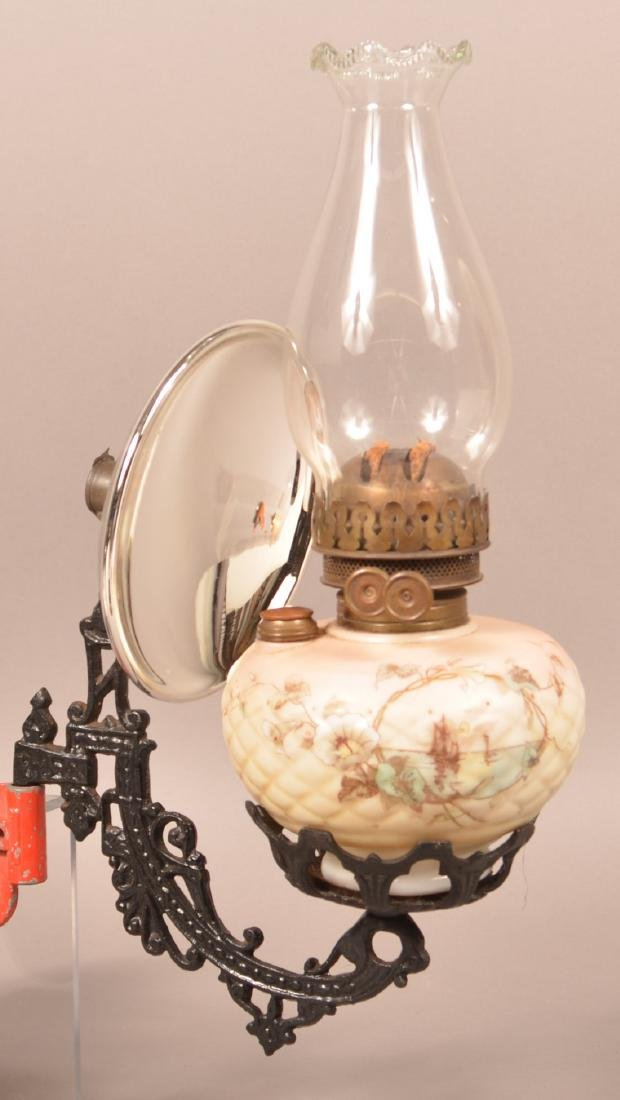 Clarks Patent Opaque Font Bracket Lamp.