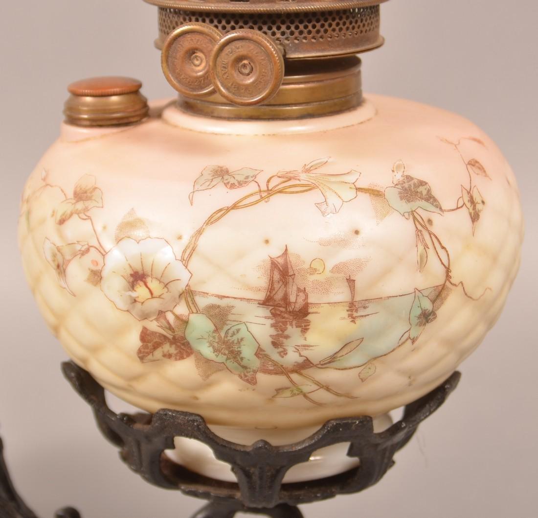 Clarks Patent Opaque Font Bracket Lamp. - 2
