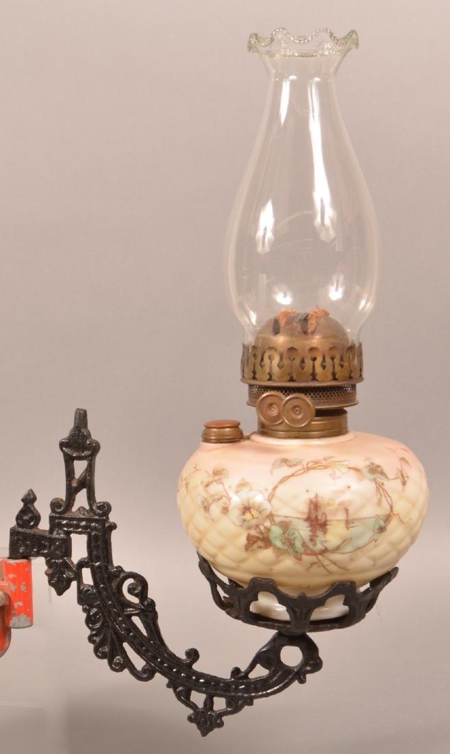 Clarks Patent Opaque Font Bracket Lamp. - 5