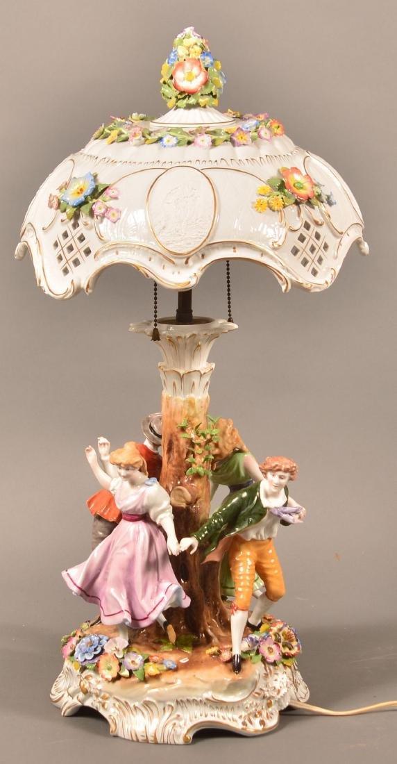 Von Schierholz German Porcelain Figural Lamp.