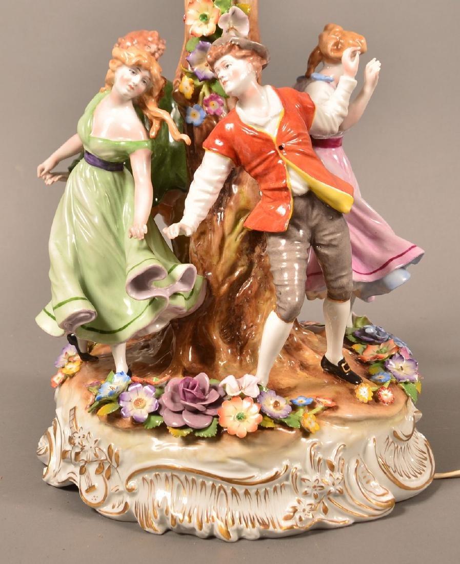 Von Schierholz German Porcelain Figural Lamp. - 3