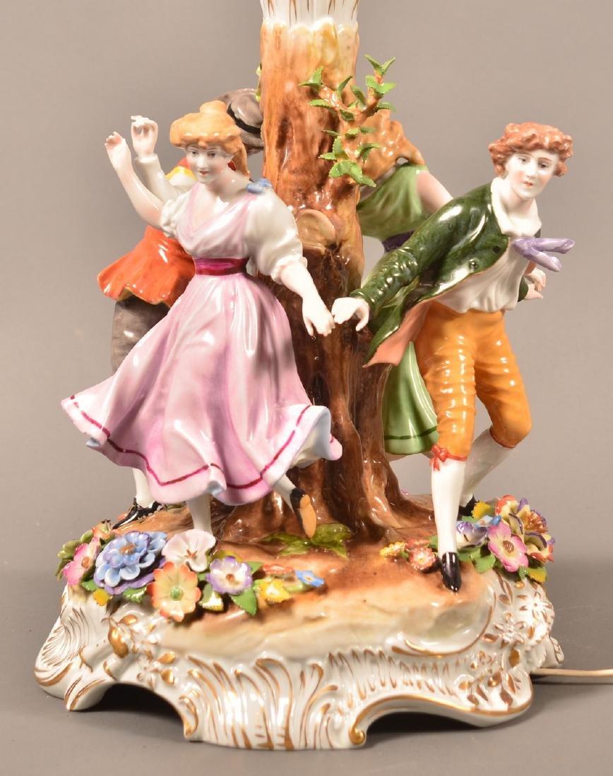 Von Schierholz German Porcelain Figural Lamp. - 4