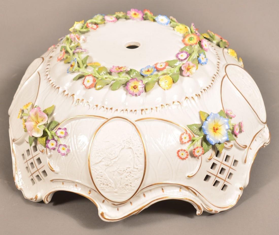 Von Schierholz German Porcelain Figural Lamp. - 5