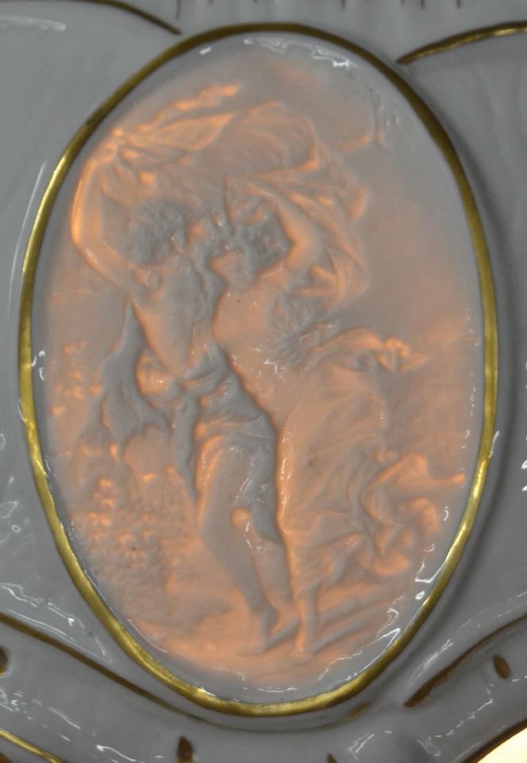Von Schierholz German Porcelain Figural Lamp. - 6
