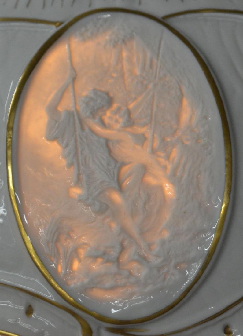 Von Schierholz German Porcelain Figural Lamp. - 7