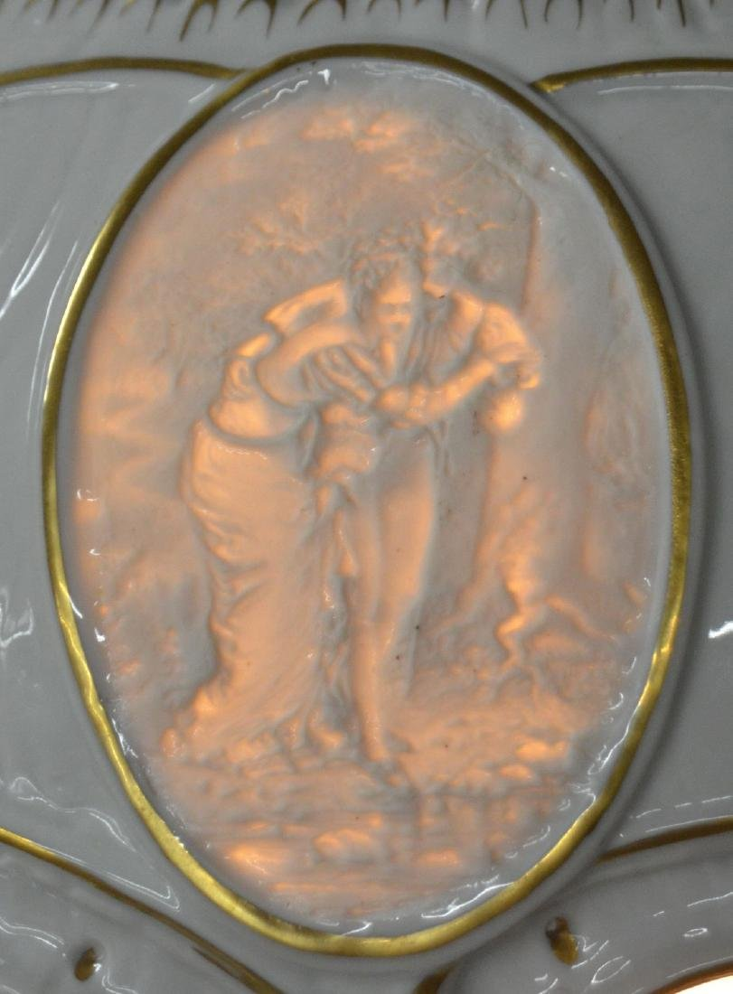 Von Schierholz German Porcelain Figural Lamp. - 8