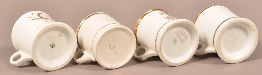 Four Antique China Masonic Shaving Mugs. - 3