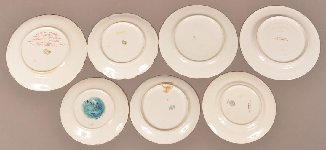 Lot of Seven Various Masonic Decorated Plates. - 2