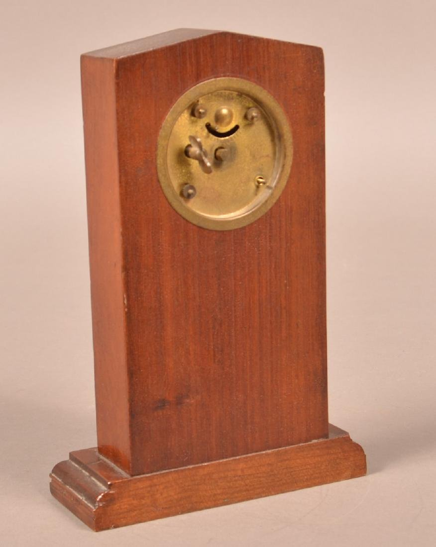 Masonic Inlaid Clock and Two Carved Shelves. - 3