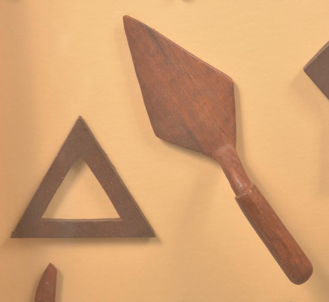 Eight Vintage Folk Art Carved Masonic Emblems. - 2