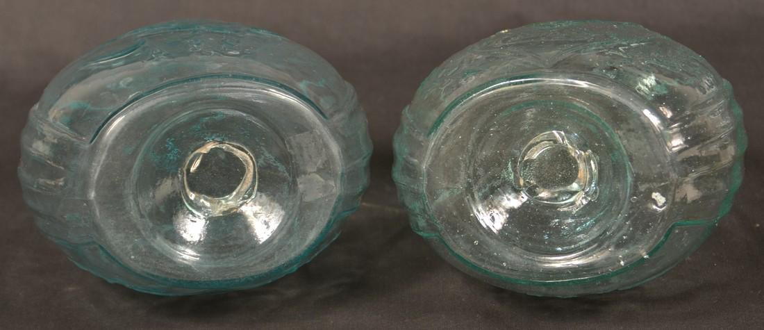 Two Aquamarine Eagle/Union Calabash Bottles. - 3