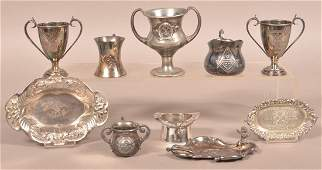 Ten Various Pieces of Masonic Silverplate Items
