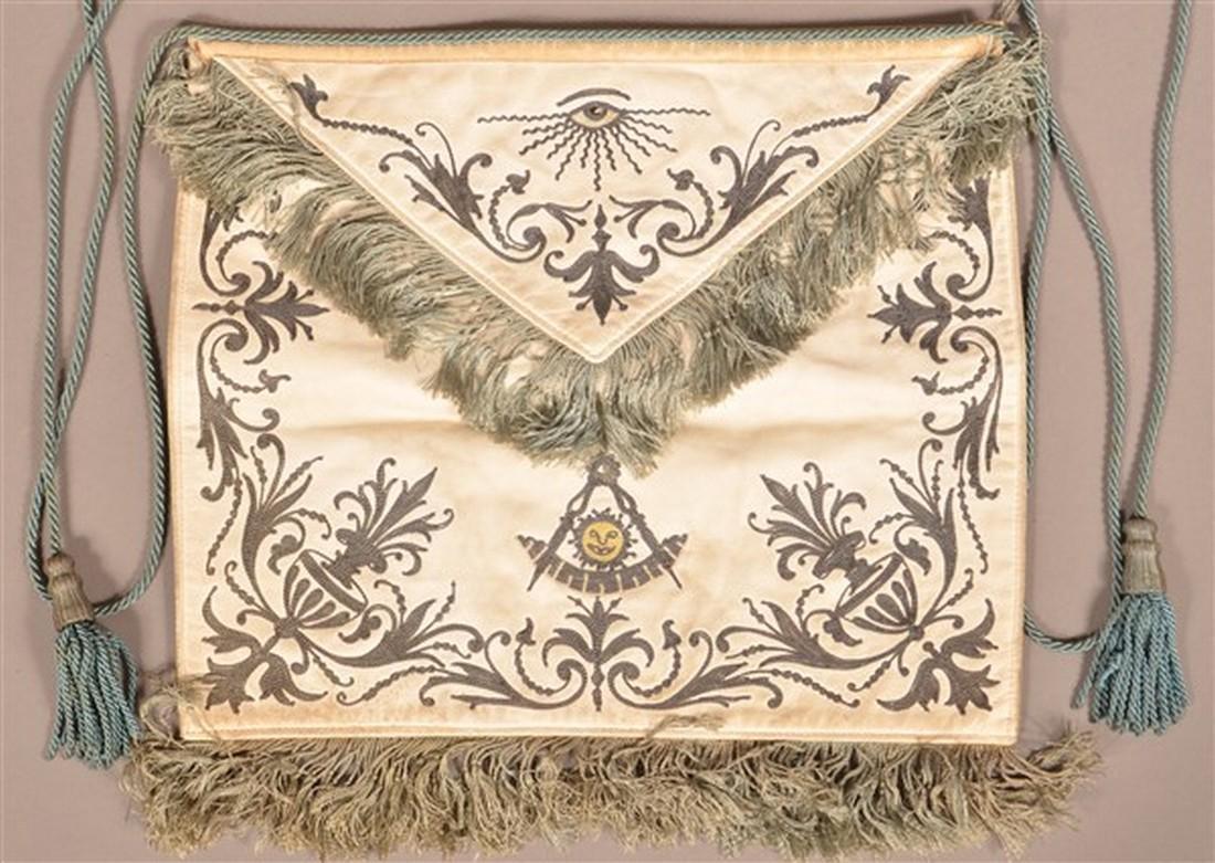 Kidd Leather and Needlework Masonic Apron.