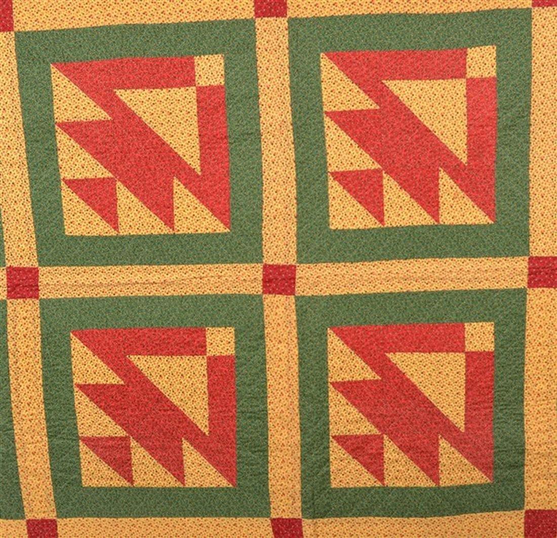 Antique/Vintage Geometric Patchwork Quilt. - 2