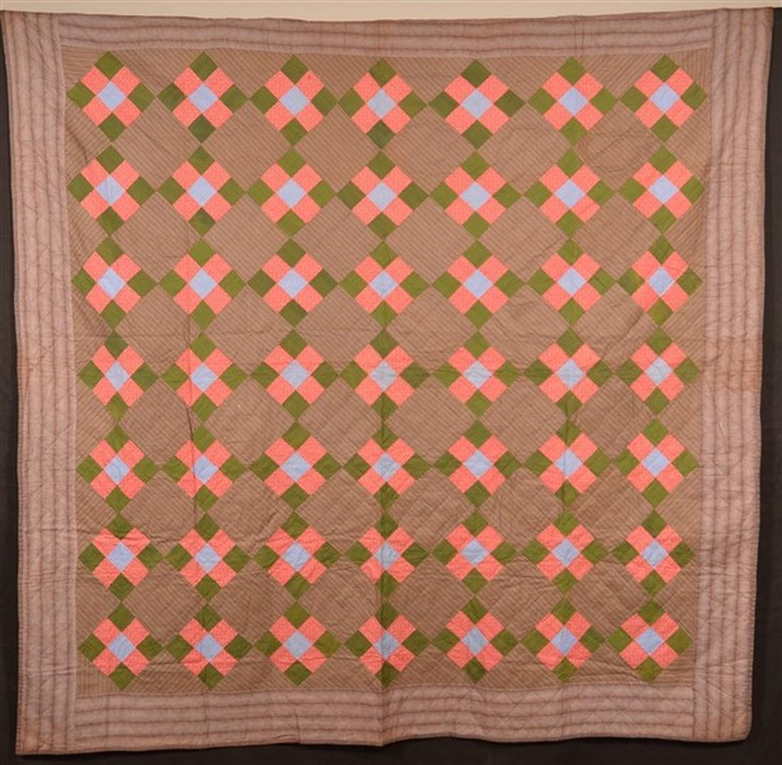 Antique/Vintage Nine Patch Pattern Quilt.