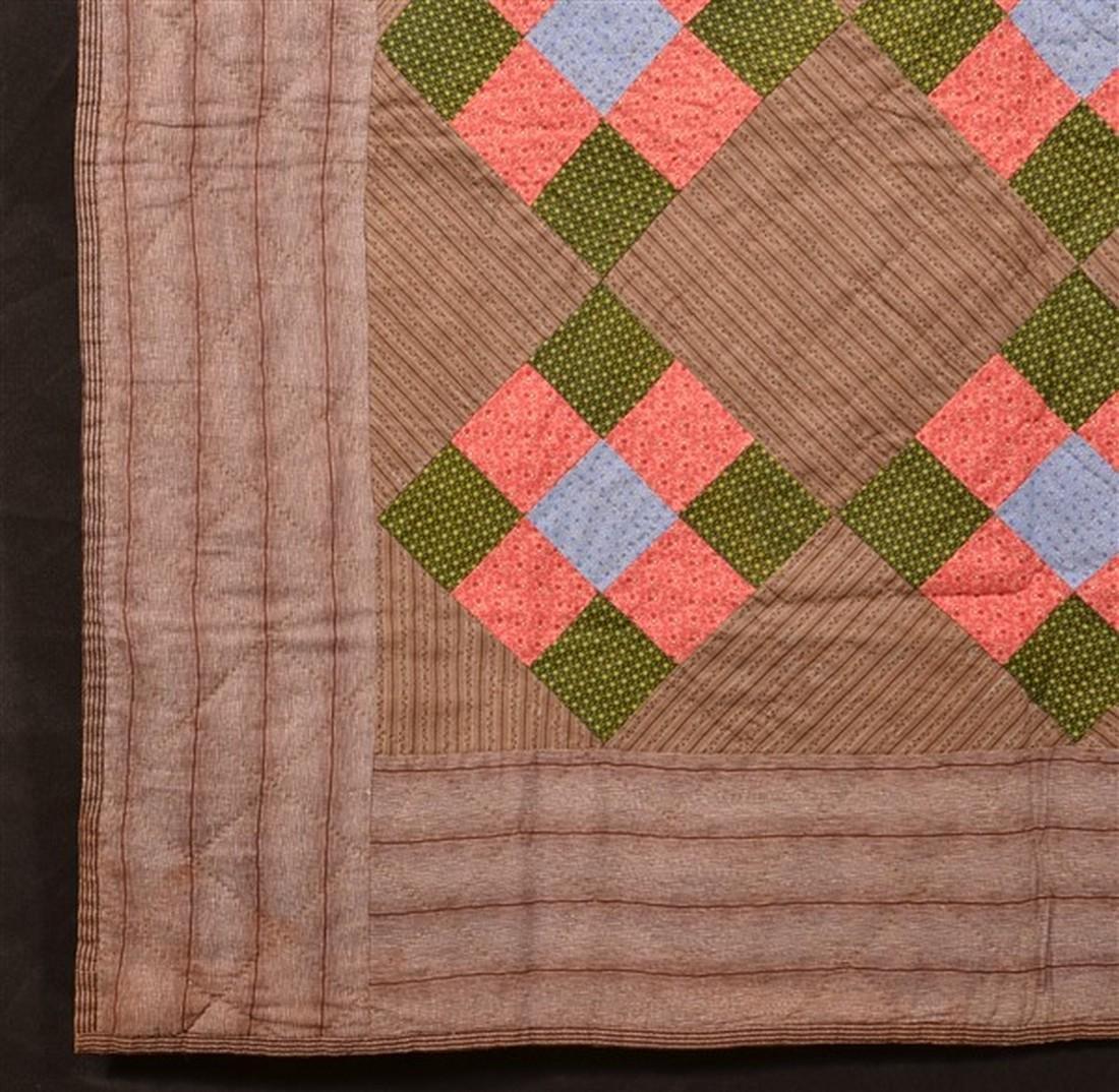 Antique/Vintage Nine Patch Pattern Quilt. - 3