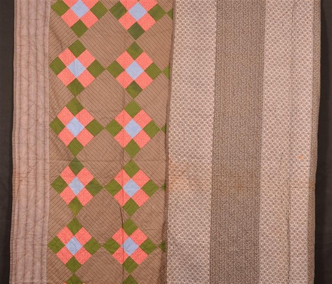 Antique/Vintage Nine Patch Pattern Quilt. - 4