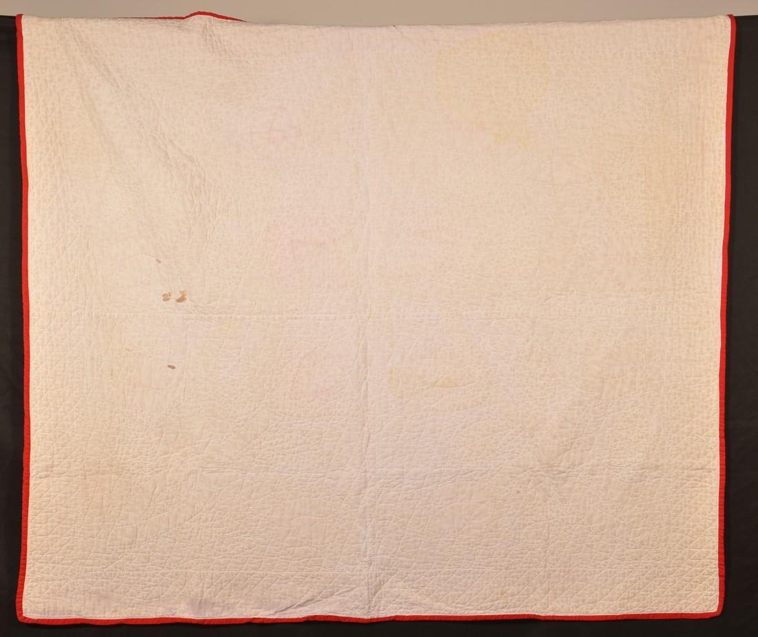 Vintage Tulip Pattern Applique Youth Quilt. - 4