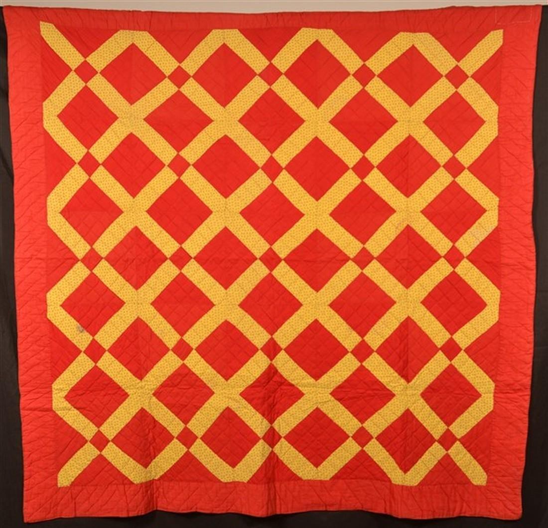 Vintage Geometric Patchwork Quilt.
