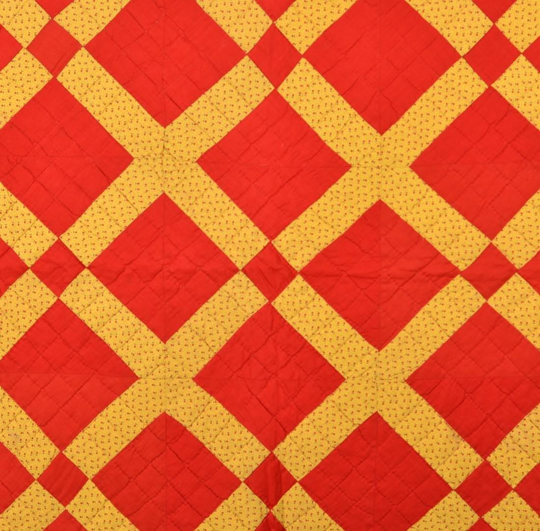 Vintage Geometric Patchwork Quilt. - 2