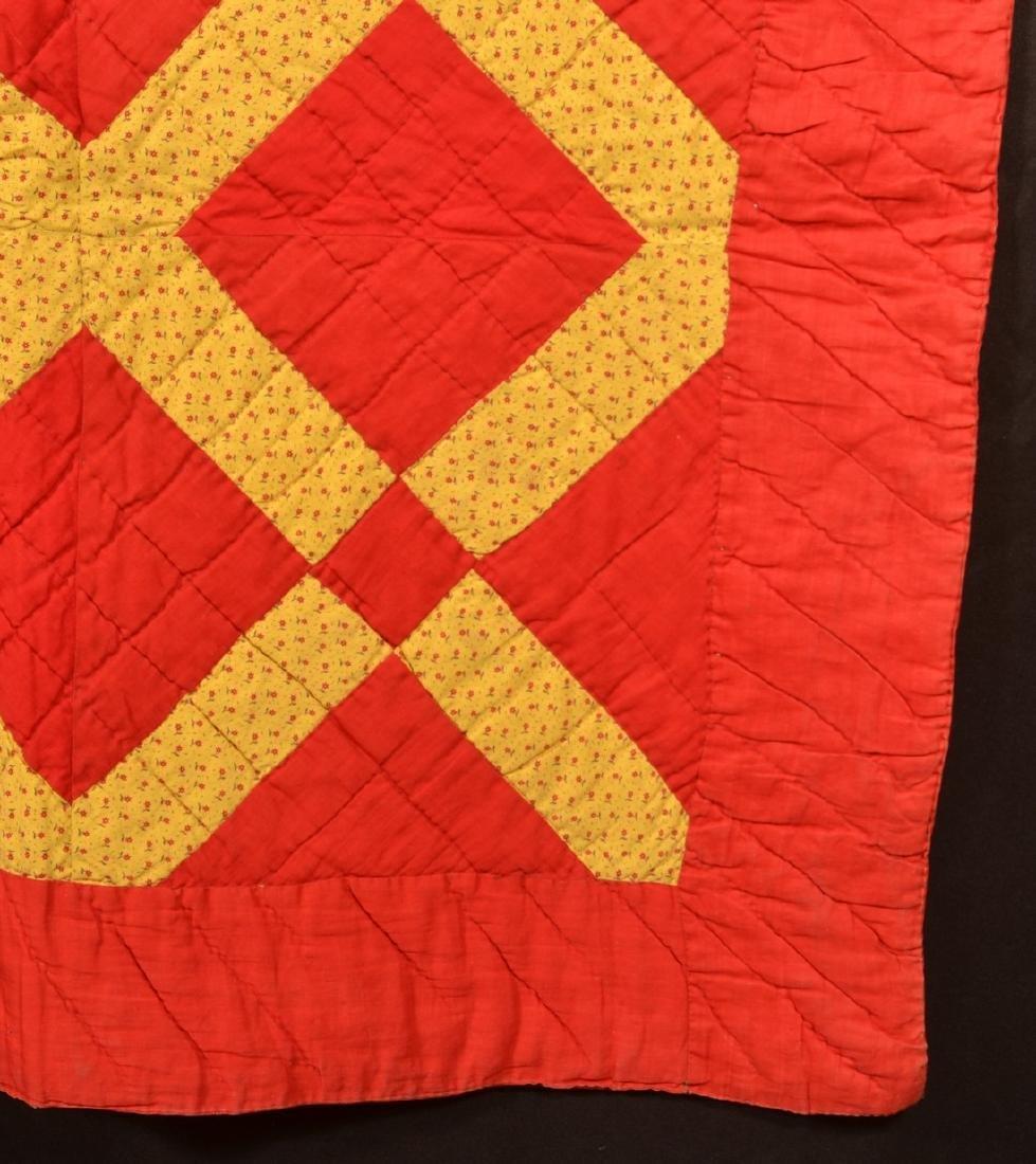 Vintage Geometric Patchwork Quilt. - 3