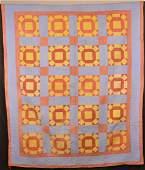 AntiqueVintage Geometric Patchwork Quilt