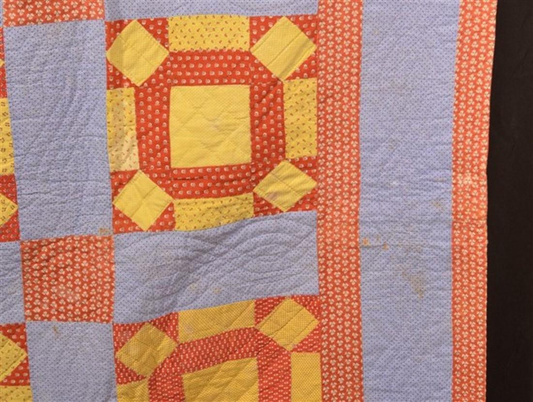 Antique/Vintage Geometric Patchwork Quilt. - 3