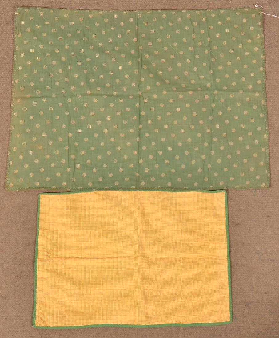 Two Various Patchwork Crib/Doll Quilts. - 2