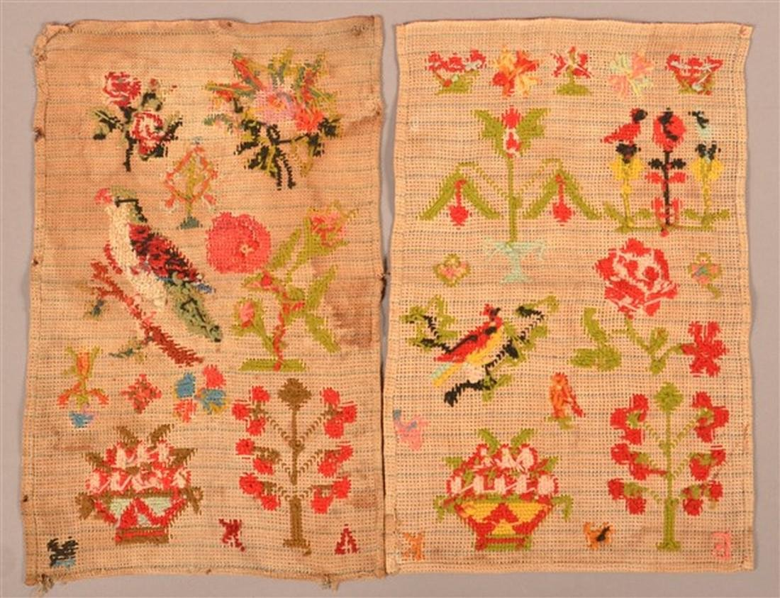 Two Victorian Needlework Pictorial Samplers. - 2