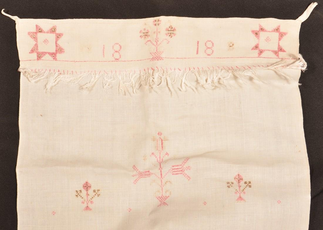 Two PA 19th Century Needlework Show Towels. - 3