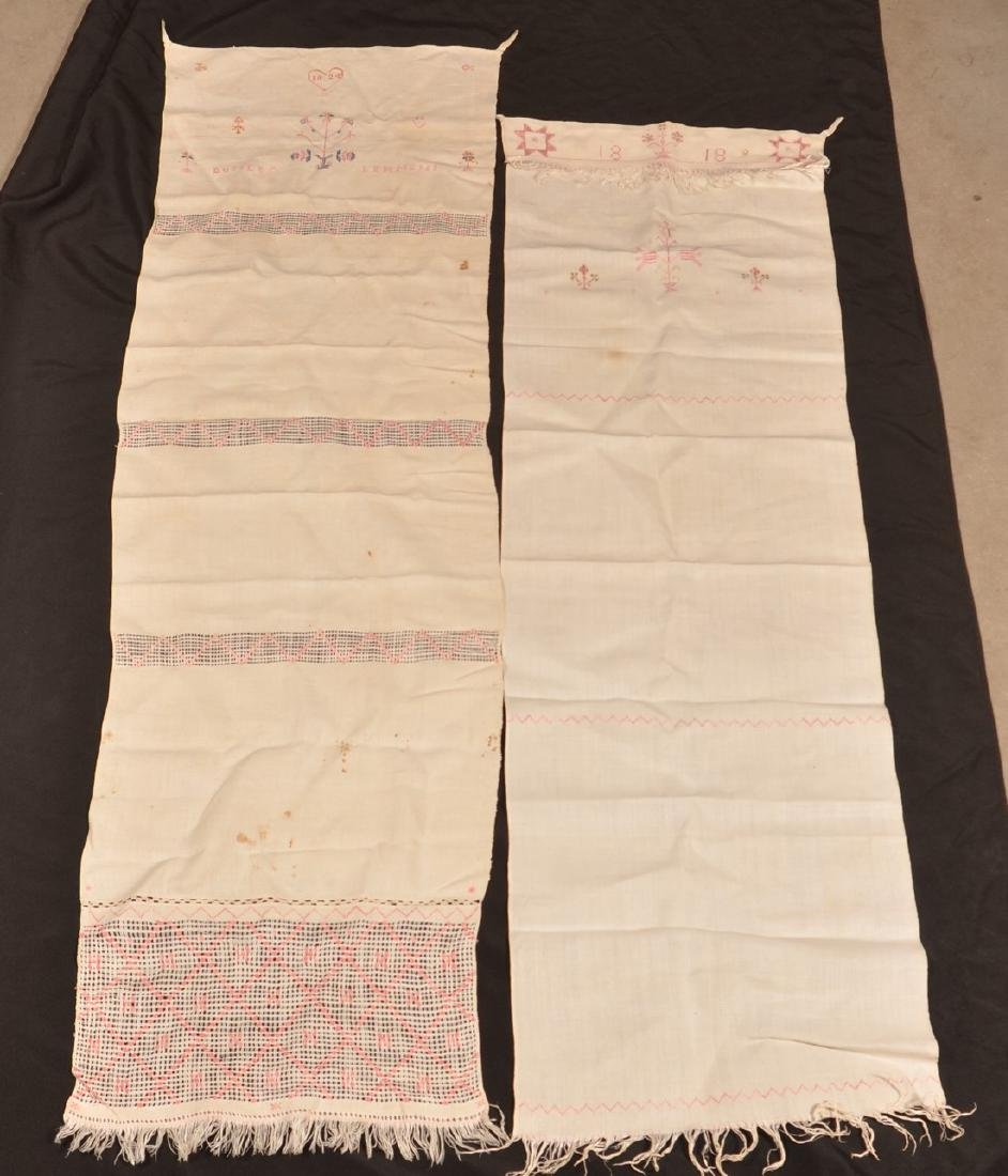 Two PA 19th Century Needlework Show Towels. - 4